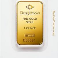 One Oz Gold Bar - Degussa