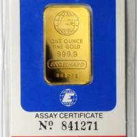 One Oz Gold Bar - Engelhard