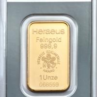 One Oz Gold Bar - Heraeus