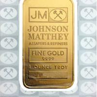 One Oz Gold Bar - Johnson Matthey
