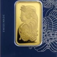 One Oz Gold Bar - Pamp