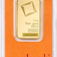 One Oz Gold Bar - Valcambi